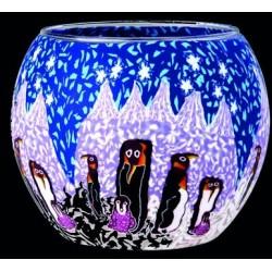 Leuchtglas Pinguin