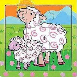 Holz-Puzzle Schaf