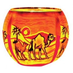 Leuchtglas Kamele