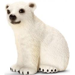 Eisbärjunges spielend