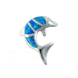 Halskette Delfin Feueropal