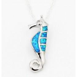 Halskette Seepferd Feueropal