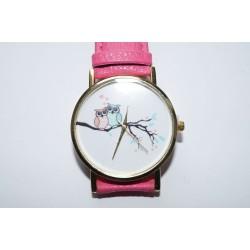 Armbanduhr Eule Pink
